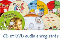 Histoires enregistrées sur CD ou DVD