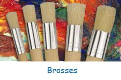 Brosses pour peinture et pochoirs