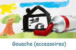 Autres accessoires pour gouache: tablier,doigtiers,couteaux à peindre,etc.
