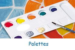 Palettes pour peinture et gouache