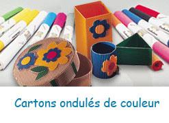 Cartons ondulés pour travaux manuels