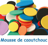 Mousses en caoutchouc simple
