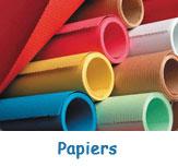 Grand choix de papiers pour travaux manuels