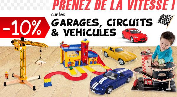 -10% sur les garages, circuits et voitures pour enafnts