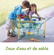 Jeux d'eau et de sable pour enfants