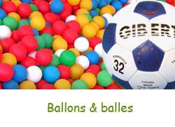 Ballons et balles de jeu
