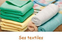 Textiles pour les nourissons: Bavoirs, couvertures, draps, etc