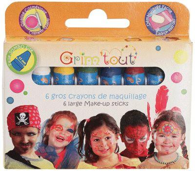 Boîte de 6 gros crayons de maquillage basiques