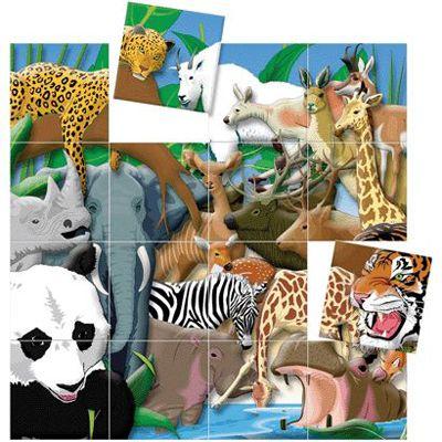 Puzzle magnétique 3D Safari
