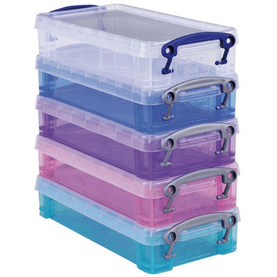 Pack de 5 boîtes de rangement de 0.55L