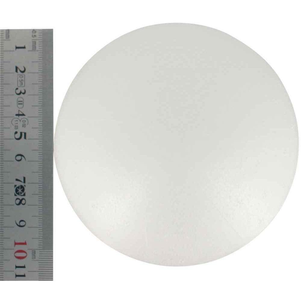 Boules polystyrène blanches - Diamètre 100mm - Lot de 5