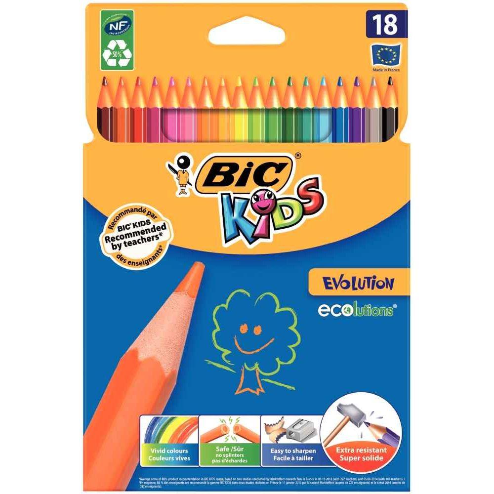 crayons de couleur evolution etui de 18 bic kids. Black Bedroom Furniture Sets. Home Design Ideas