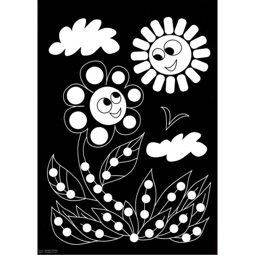 Feuilles motifs animaux et gommettes - Pochette de 16