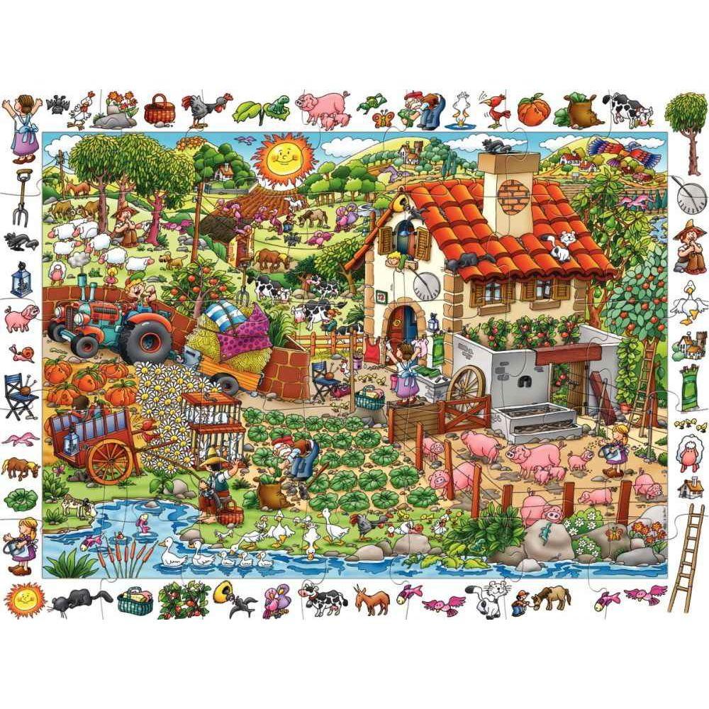 Puzzle d'observation 35 pièces La Ferme
