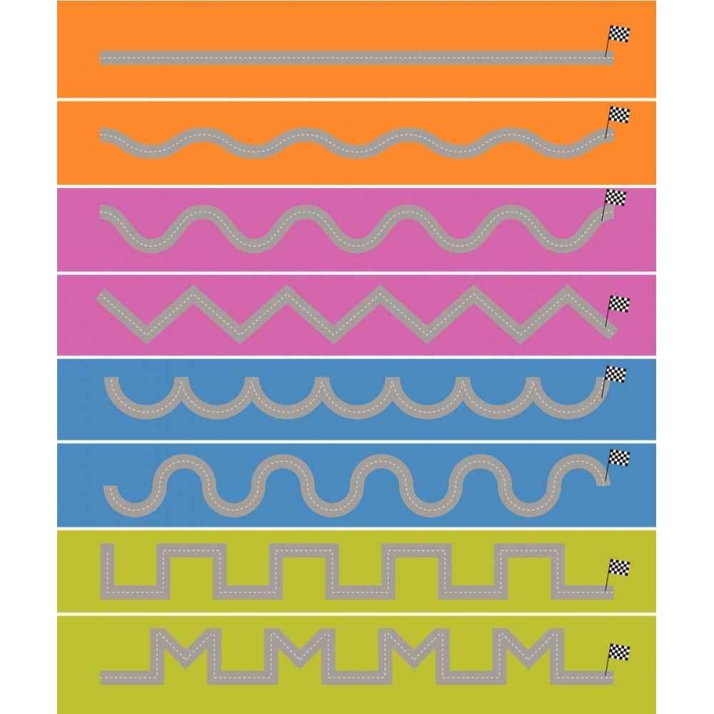 Set de 8 pistes graphiques 15x100cm