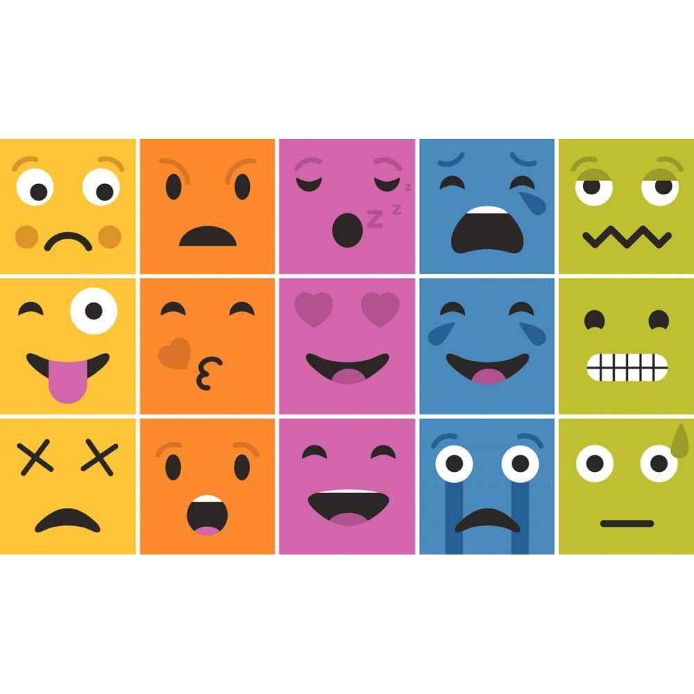 Set de 15 dalles 29x29cm Les émotions