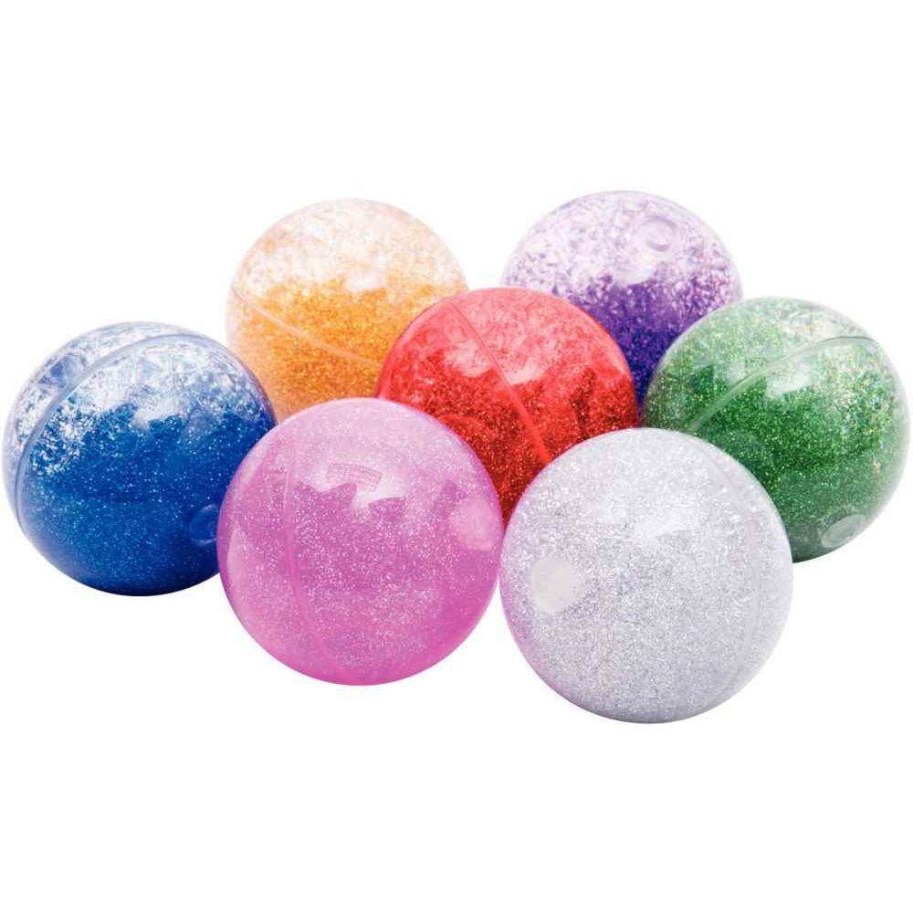 Balle à paillettes diamètre 6.5cm - Boite de 7