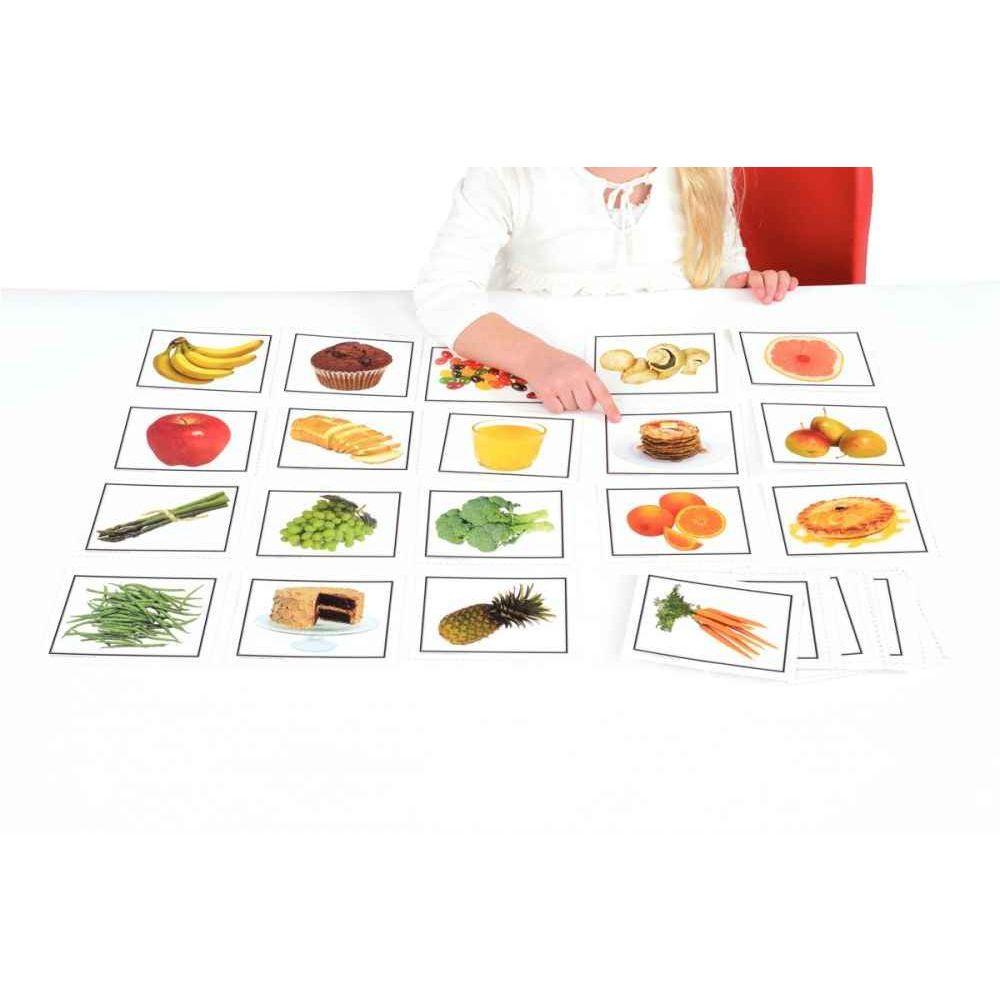 Set de 46 cartes sur le thème : l'alimentation