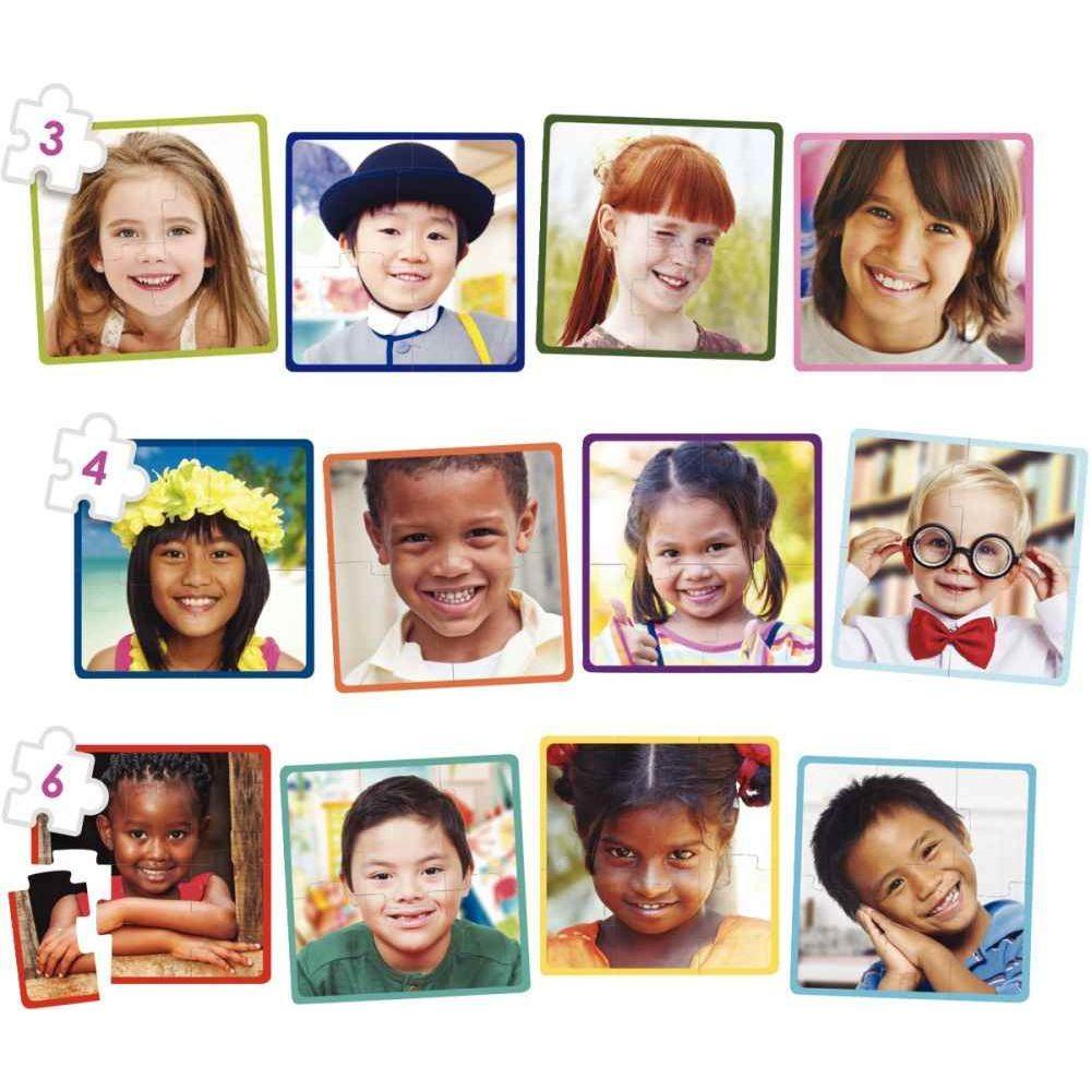 Puzzles les enfants du monde - Lot de 12