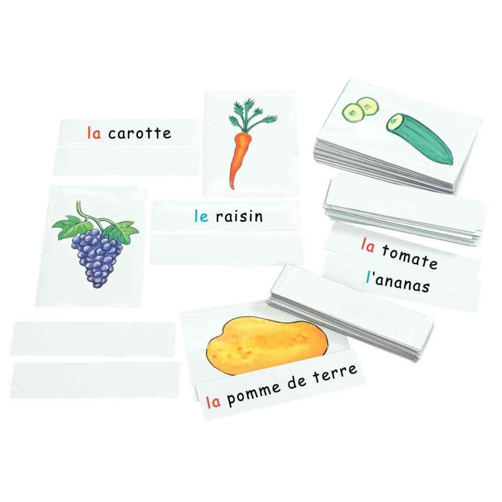 Boîte de 33 cartes fruits et légumes