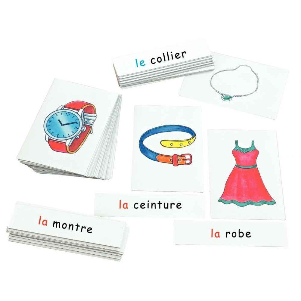 Boîte de 28 cartes les vêtements