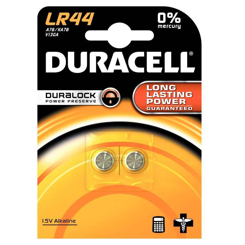 Piles bouton LR44 Duracell Electronics - Blister 2
