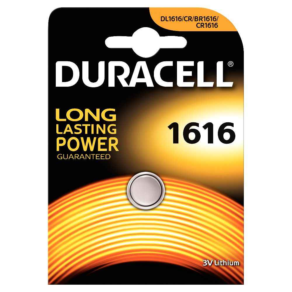 Pile lithium 3V CR1616 Duracell Electronics