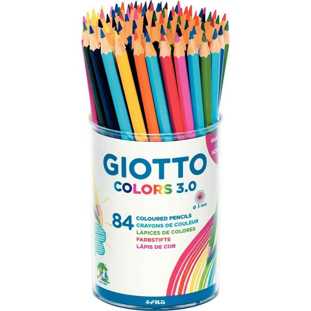 Crayon de couleur Giotto Colors 3.0 - Pot de 84