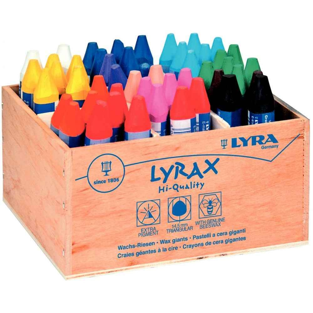 craies la cire triangulaires lyrax schoolpack de 48 lyra craies pastels sur planet eveil. Black Bedroom Furniture Sets. Home Design Ideas