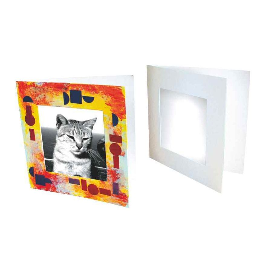 cadres photo en carton blanc lot de 10 gribouill 39 art. Black Bedroom Furniture Sets. Home Design Ideas