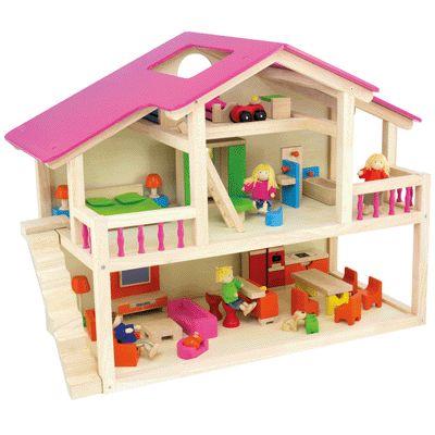 Maison de poup es loft en bois pintoy maisons de poup e sur planet eveil - Jeux de demolition de maison ...
