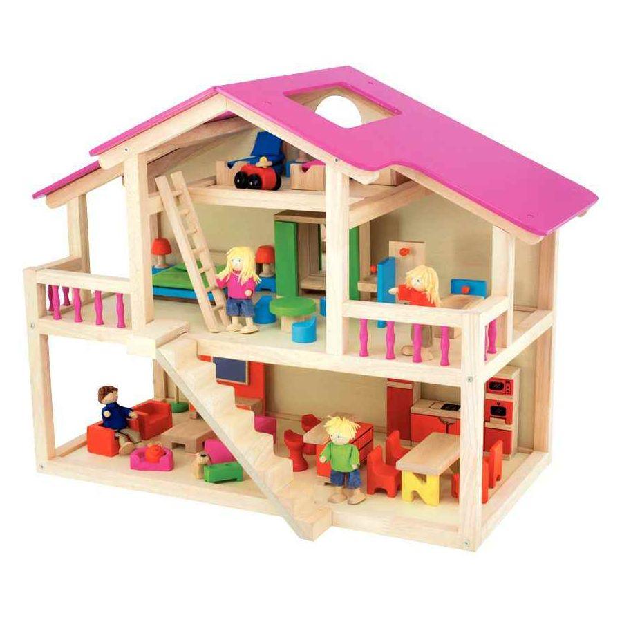 maison de poup es loft en bois pintoy maisons de poup e sur planet eveil