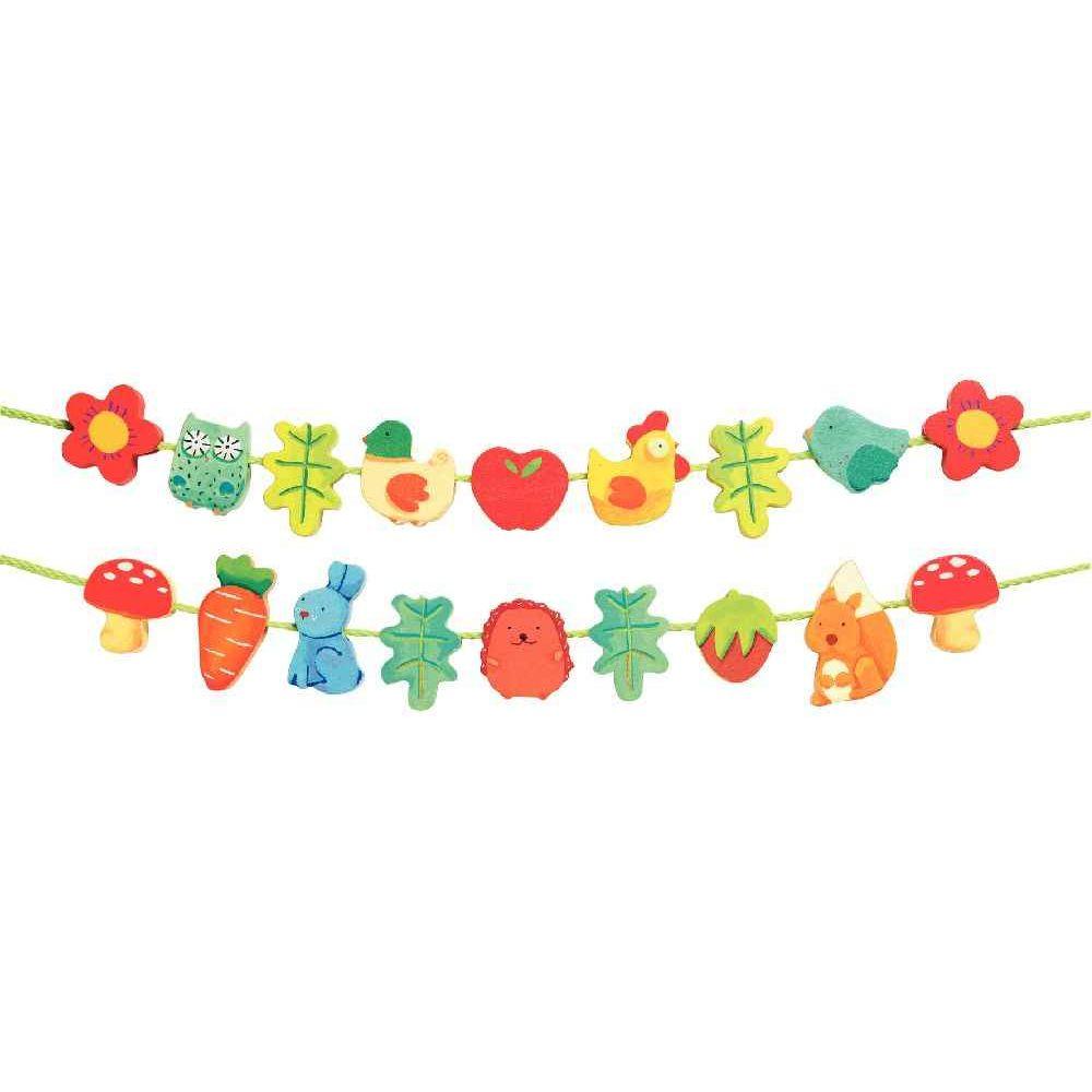 Djeco - Perles jardin à lacer