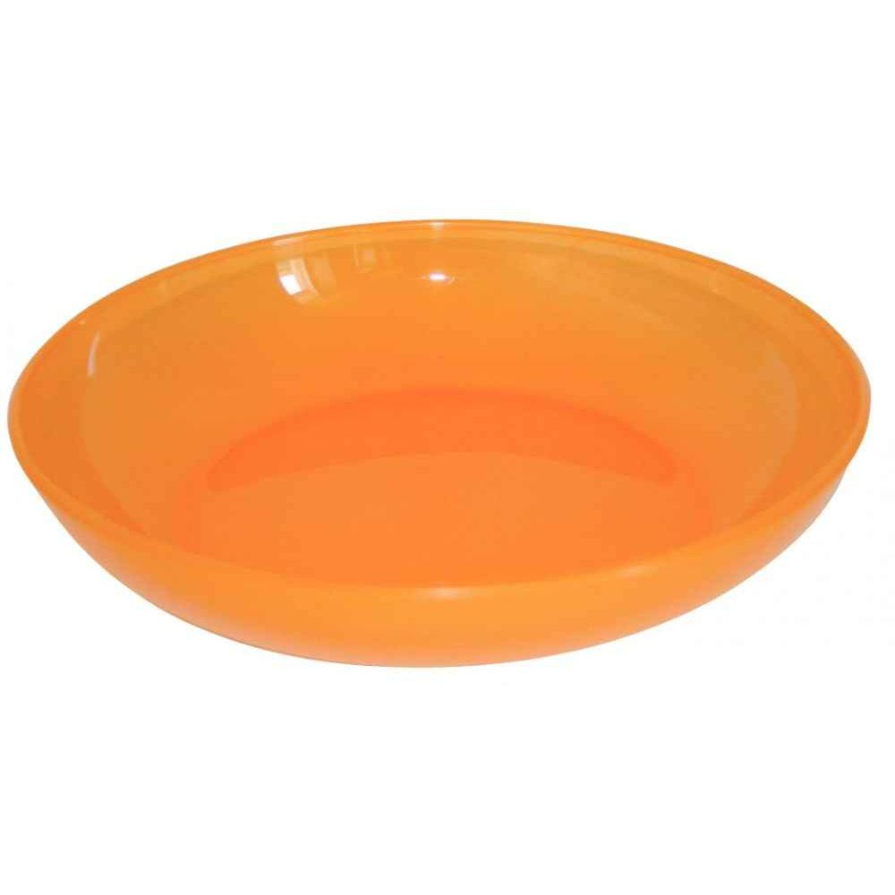 Assiette creuse orange pour micro-ondes