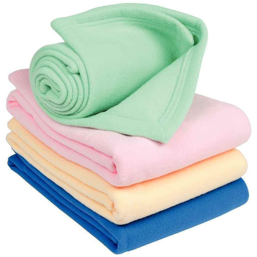 couverture polaire polyester 100x150 cm rose ses textiles sur planet eveil. Black Bedroom Furniture Sets. Home Design Ideas