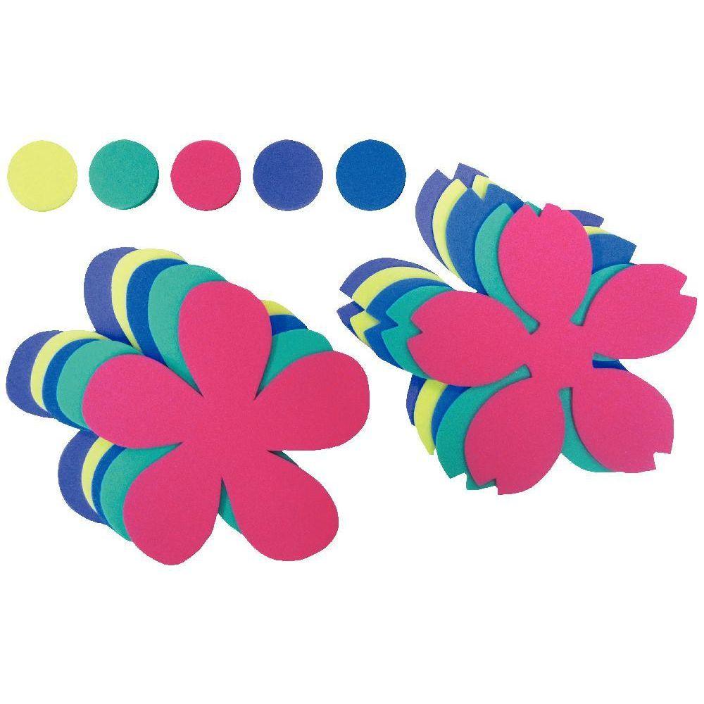 promotion Maxi fleurs en mousse de caoutchouc - Lot de 30
