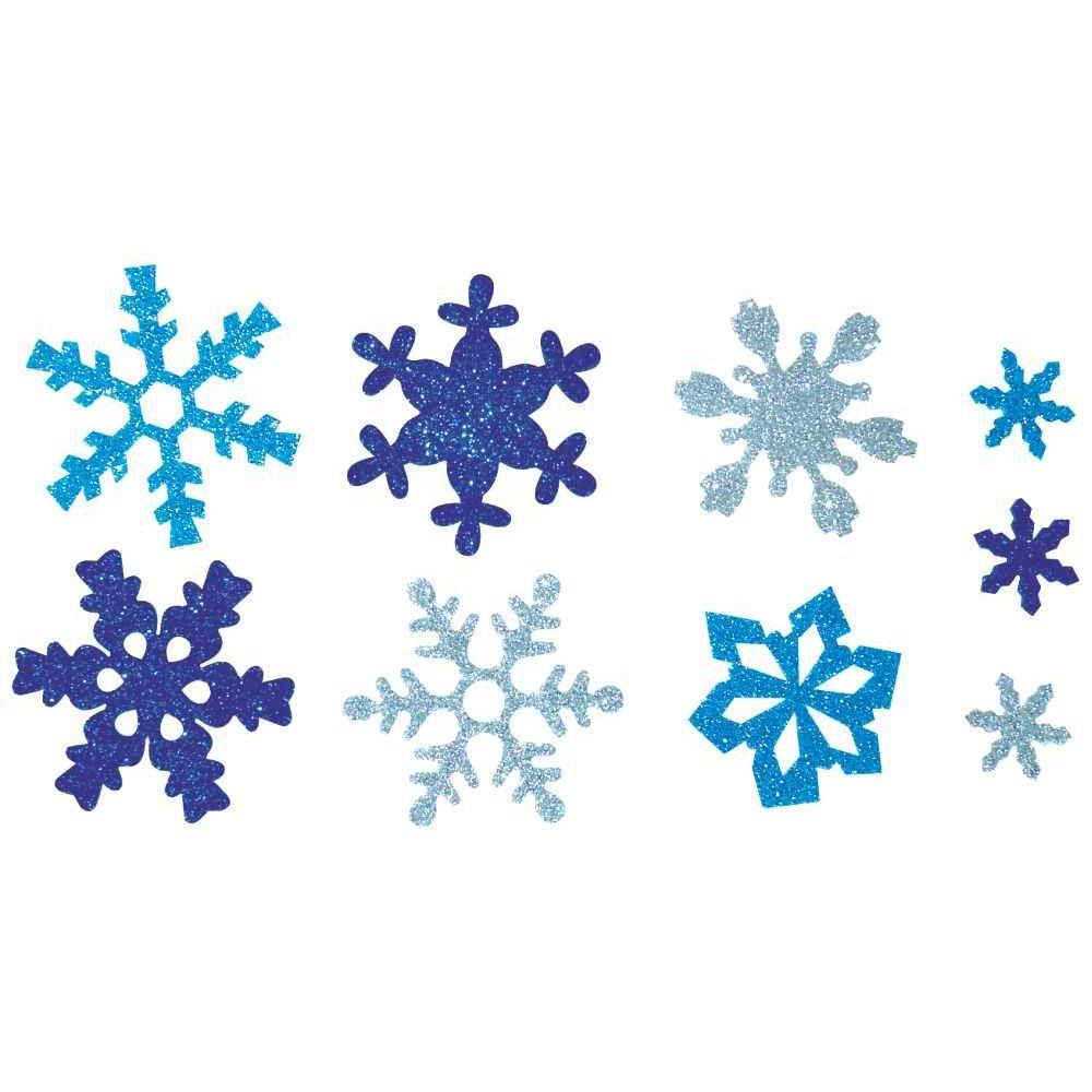 Flocons de neige en mousse de caoutchouc pailletée - Lot de 240