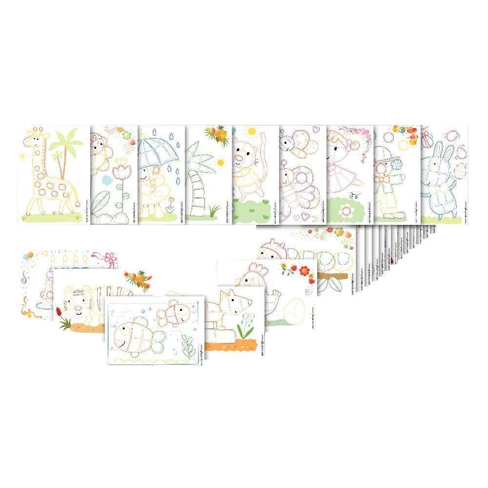 Cartes à décorer PLAYMAIS - Set de 24