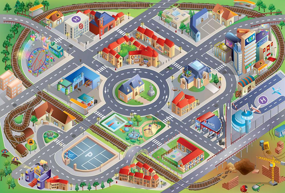 Tapis De Jeu G Ant La Ville House Of Kids Tapis De Jeu Sur Planet Eveil