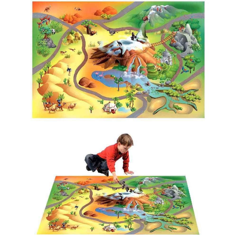 tapis de jeu g ant la savane house of kids tapis de jeu sur planet eveil. Black Bedroom Furniture Sets. Home Design Ideas