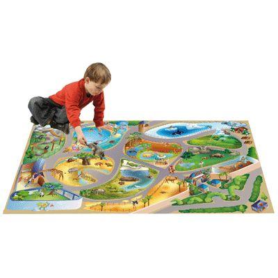 Tapis De Jeu Geant Le Zoo House Of Kids Tapis De Jeux Sur