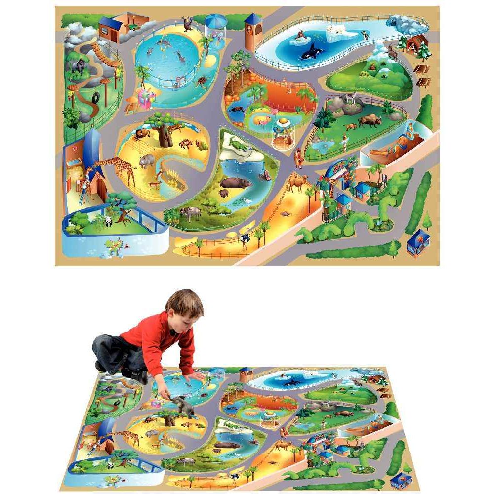 tapis de jeu g ant le zoo house of kids tapis de jeux sur planet eveil. Black Bedroom Furniture Sets. Home Design Ideas