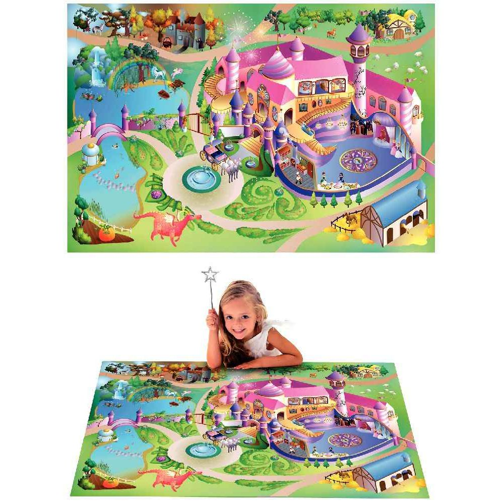 tapis de jeu g ant princesse house of kids tapis de jeux sur planet eveil. Black Bedroom Furniture Sets. Home Design Ideas