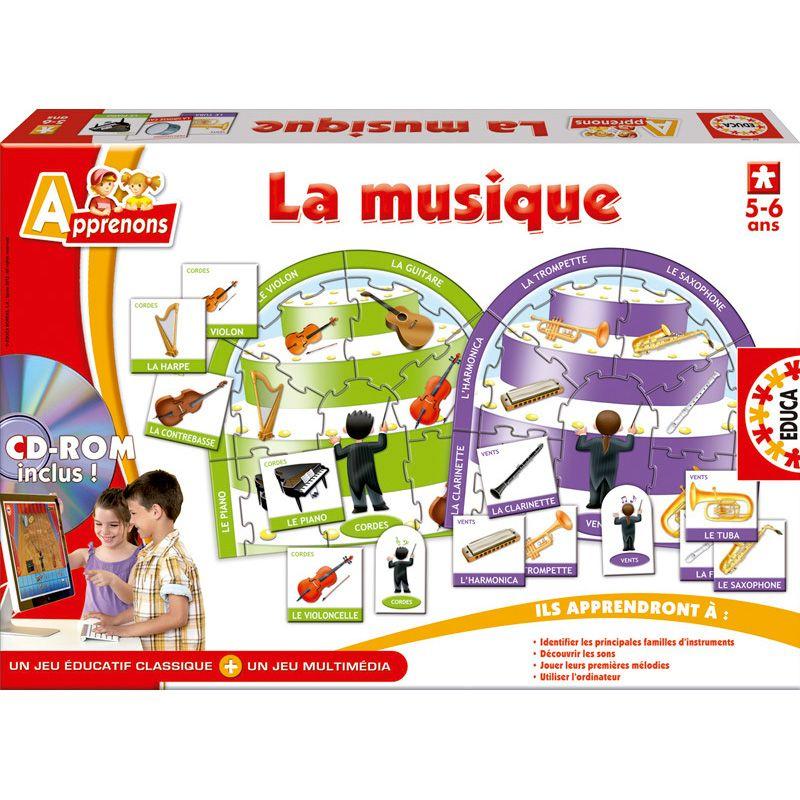 Jeu Apprenons la musique - Educa   Jeux de société sur ...