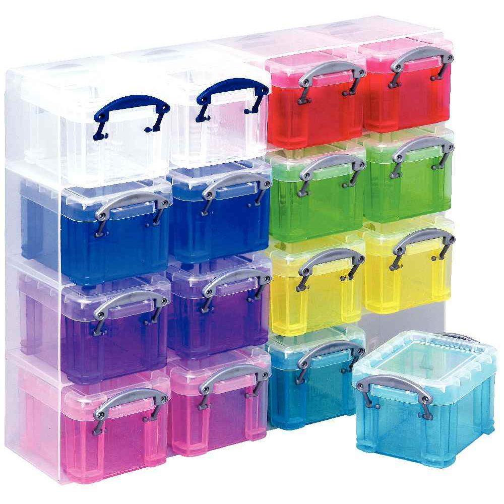organiseur de rangement 16 bo tes multicolores really useful box cases et bacs de. Black Bedroom Furniture Sets. Home Design Ideas