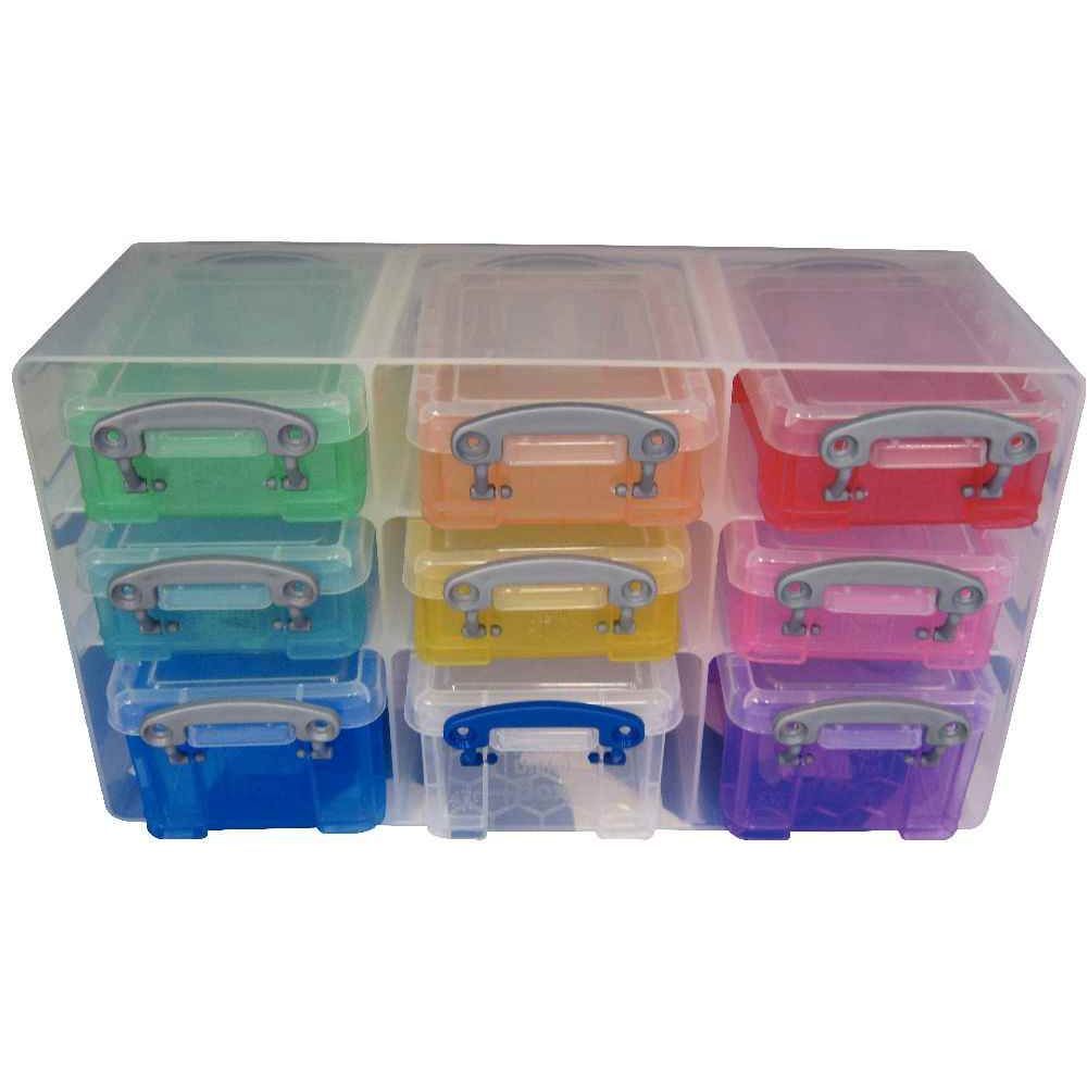 Organiseur De Rangement 9 Bo Tes Multicolores Really Useful Box Cases Et Bacs De Rangement