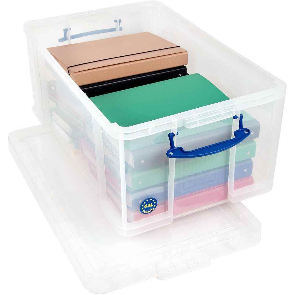 bo te de rangement transparente de 64l really useful box. Black Bedroom Furniture Sets. Home Design Ideas