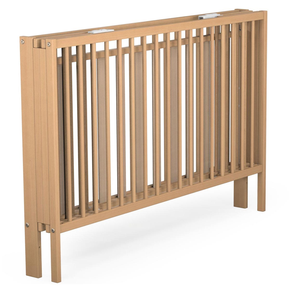 atelier t4 lit pliant en h tre vernis 124x64 cm ateliers t4 lits accessoires sur. Black Bedroom Furniture Sets. Home Design Ideas