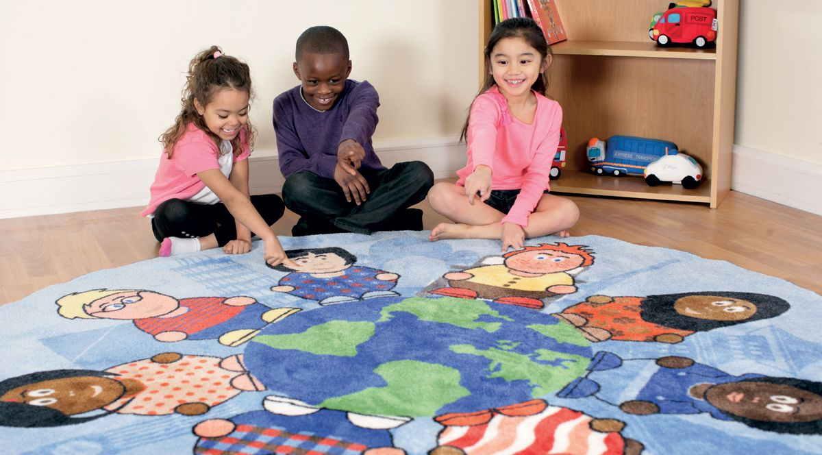 tapis rond enfants du monde kit for kids tapis de jeux sur planet eveil. Black Bedroom Furniture Sets. Home Design Ideas