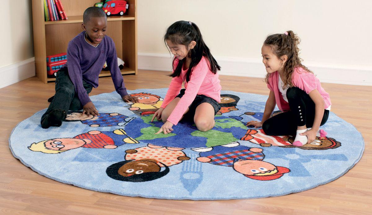 tapis rond enfants du monde kit for kids tapis de jeu sur planet eveil. Black Bedroom Furniture Sets. Home Design Ideas